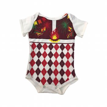 Body junino infantil - Xadrez